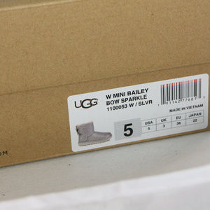 cc932942e89 RARE UGG Womens Mini Bailey Bow Sparkle Boots NWT